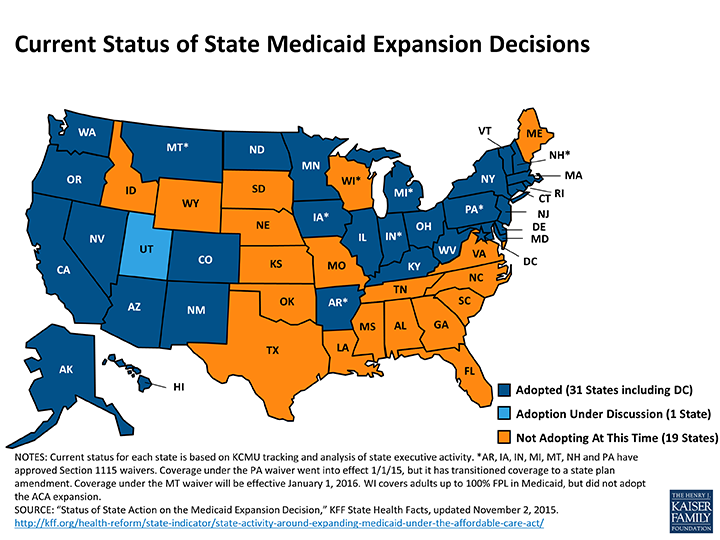 KFF_medicaid-expansion-status_2015-11