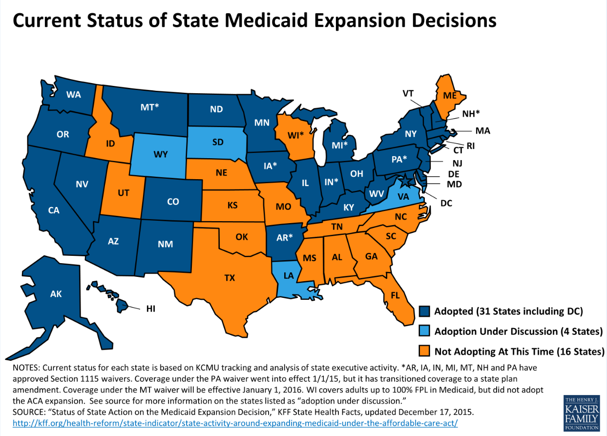 KFF_Medicaid-Expansion-status-2015-12