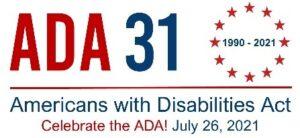 logo celebrating the 31st anniversary of the ADA